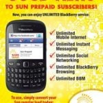 Unlimited Blackberry Services on Sun cellular Now Available on Prepaid