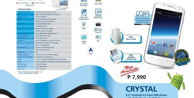 Starmobile Crystal now out in stores for Php7,990