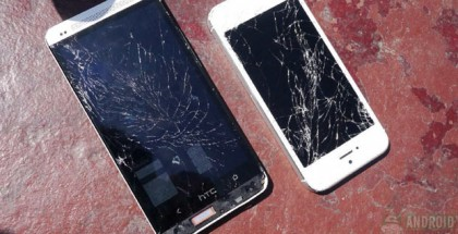 HTC One and Apple iPhone 5 Drop Test Video