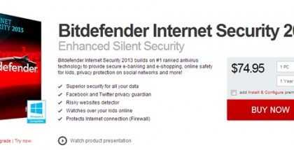 Featured - Bitdefender Internet Security 2013 Antivirus Software