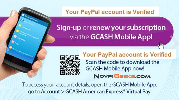 How to Verify PayPal account using Globe GCash AMEX | NoypiGeeks
