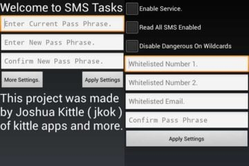 SMS Tasks Control Android Device Remotely via SMS