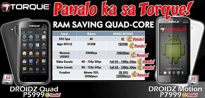 Torque Droidz RAM Saving Technology