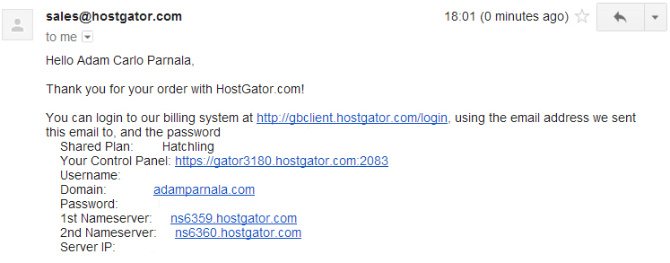 welcome-email-hostgator-guide