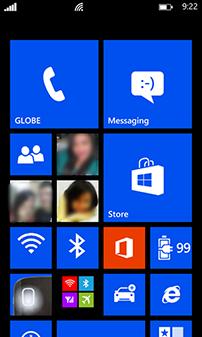 Lumia 620 Windows Phone 8 Homescreen