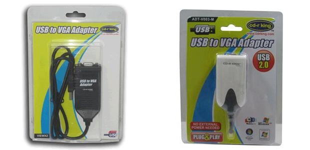 CDR King USB to VGA Adapter for multiple displays