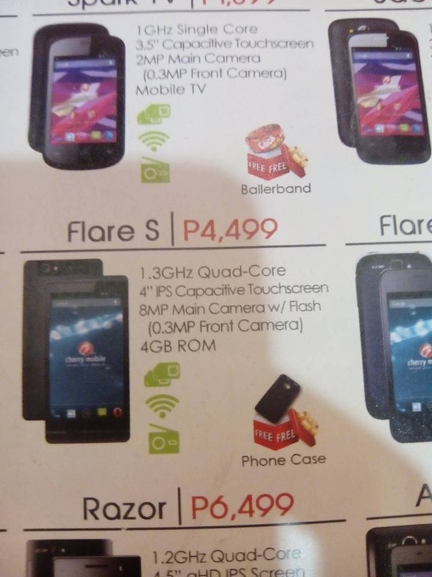 Cherry Mobile Flare S quad-core CPU, 4GB ROM, IPS display for only Php4,499