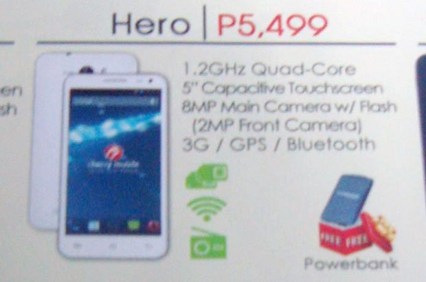 Cherry Mobile Hero: Sports a Quad Core CPU and 5″ Screen for Php5,499!