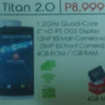 Cherry Mobile Titan 2.0: Xperia-like Design and 5″ HD OGS Display, Quad-core CPU
