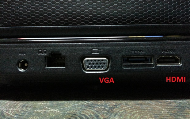 Laptop VGA HDMI ports