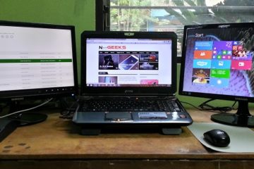 Laptop with multiple displays
