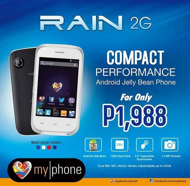 MyPhone Agua RAIN 2G Infosheet