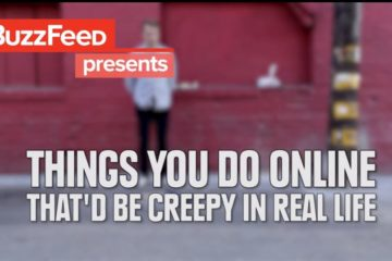 Things to do online that'd be creepy in real life