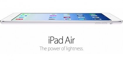 iPad Air - the power of lightness