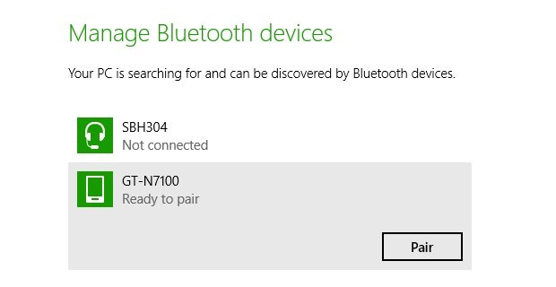 Android tethering pair PC with mobile device thru Bluetooth