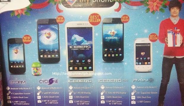MyPhone Agua Iceberg mini, MyPhone Cyclone, MyPhone Storm