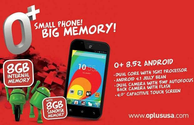 O Plus 8.52 small phone big memory
