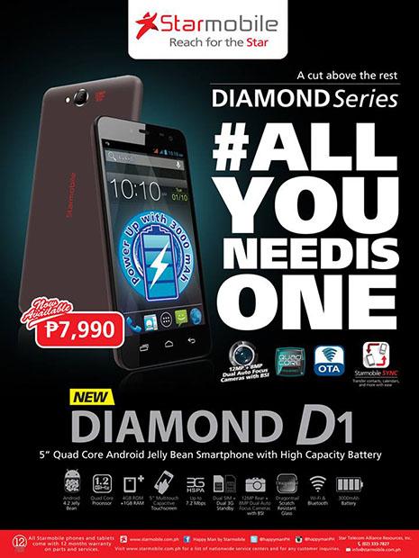 Starmobile Diamond V1 Official Promo Graphic