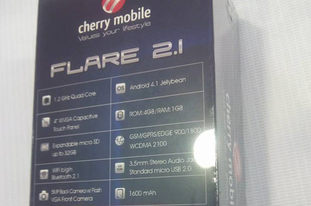 The Cherry Mobile Flare 2.1 is the Flare 2.0 with 1GB RAM