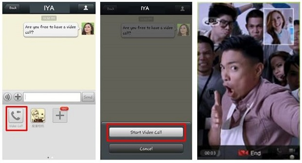 WeChat video calling
