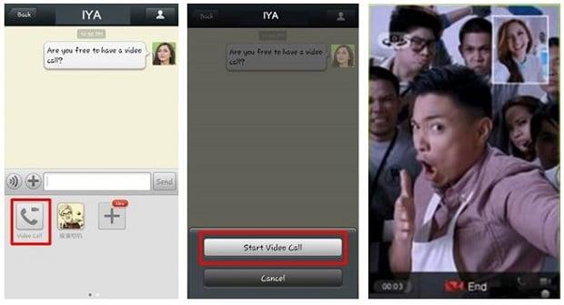 WeChat video calling