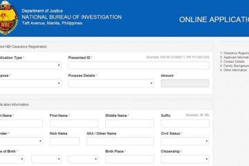 NBI Clearance online application