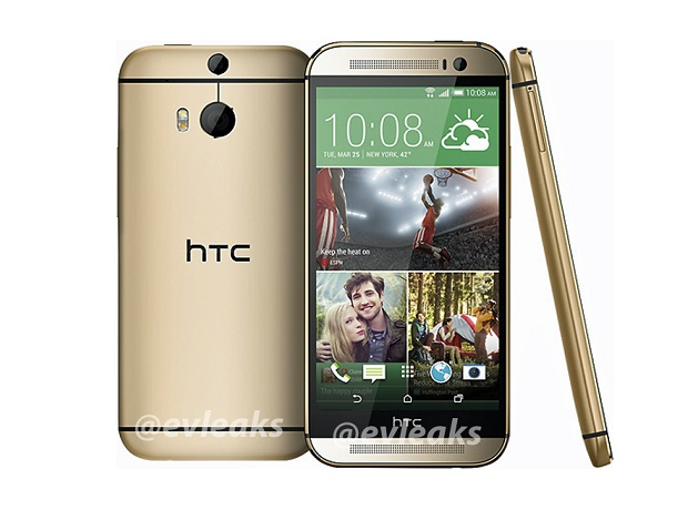 All New HTC One gold