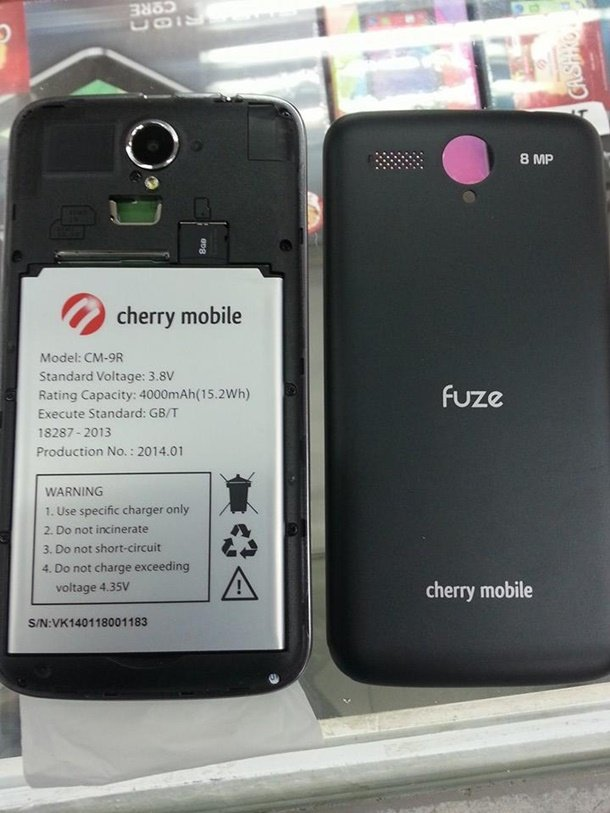 Cherry Mobile Fuze Complete Specs Revealed With 5 Inch
