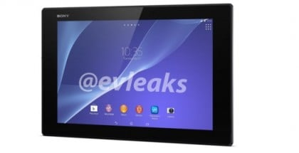 Sony Xperia Tablet Z2 leaked image