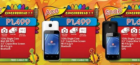 Cherry Mobile Onyx, Ace, Snap 2.0