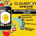 CloudFone Excite 400dx is the most affordable monster battery smartphone