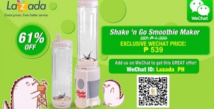 WeChat Lazada exclusive deals and offer