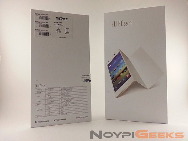 Gionee Elife S5.5 Unboxing NoypiGeeks