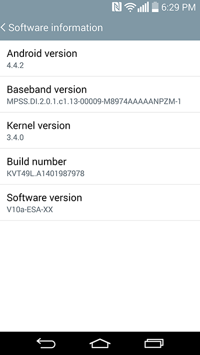 LG G3 Android Kitkat - Software update