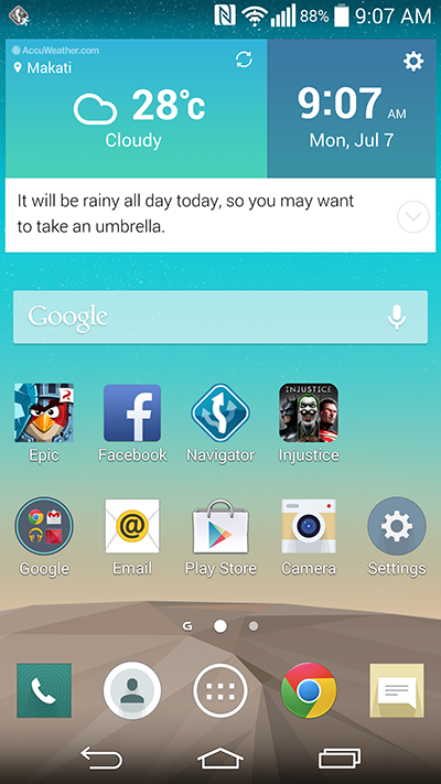 LG G3 UI Software Apps Games