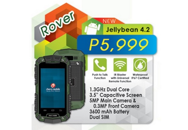 Cherry Mobile Rover Rugged Android Smartphone For Php5 999