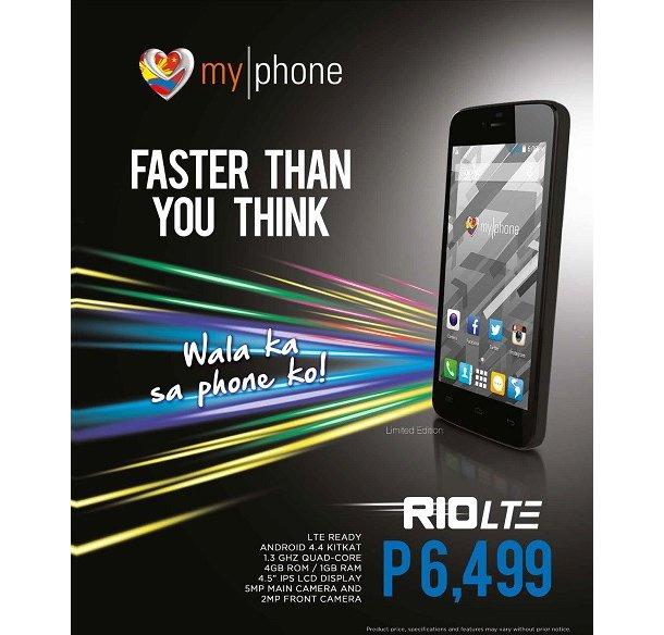 MyPhone Rio LTE: 4G-ready KitKat smartphone for Php6,499