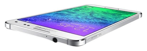 Samsung Galaxy Alpha top