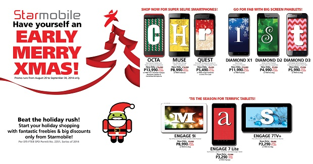 Starmobile's early X-mas promo drops prices for 9 mobile devices