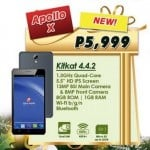 Cherry Mobile Apollo X: 5.5-inch HD display, 1.3GHz quad-core CPU, 13MP camera, Php5,999