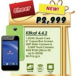 Cherry Mobile Cheer: quad-core KitKat smartphone for Php2,999