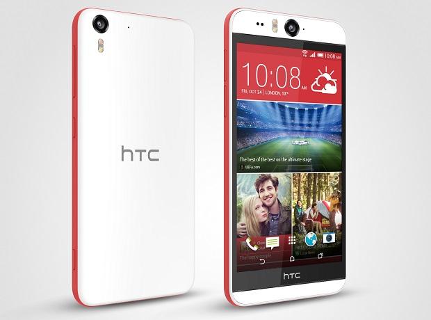 HTC Desire Eye back, front