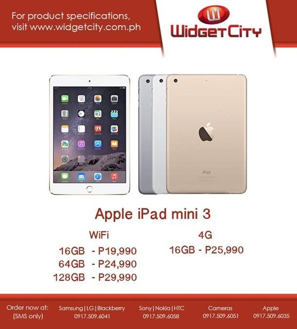 IPad Air 2 And IPad Mini 3 Now Available In PH Via Widget