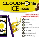 CloudFone Ice 402e is a 4-inch Android 4.4 Kitkat smartphone for only Php1,699
