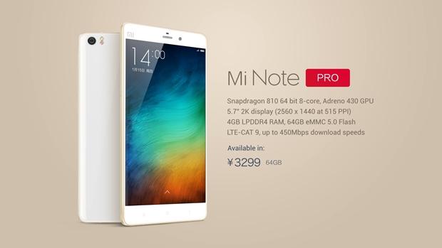 Mi-Note-Pro-Specs-Features