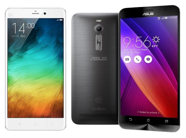 Xiaomi Mi Note vs Asus ZenFone 2