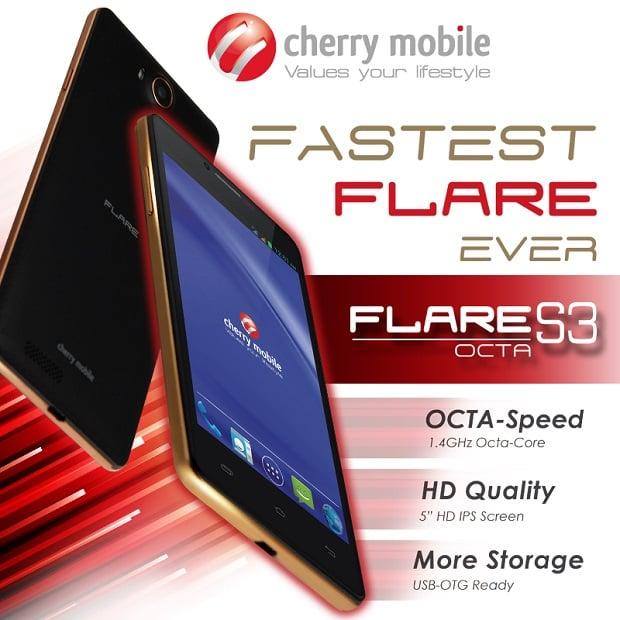Per the company s facebook announcement the cherry mobile flare s3