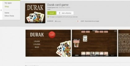 Durak card game app