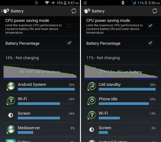 O+ 360 Extreme Battery life