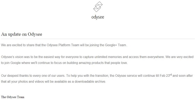 Odysee acquisition